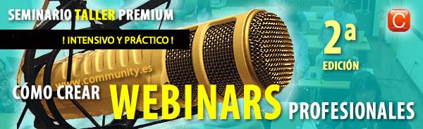 seminario webinars profesionales community internet the social media company