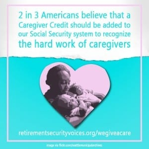 Caregiver Credit graphic mother and baby