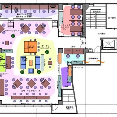 埼玉県さいたま市大宮駅東口のコワーキングスペース「7F」の2012年10月29日現在の図面です。