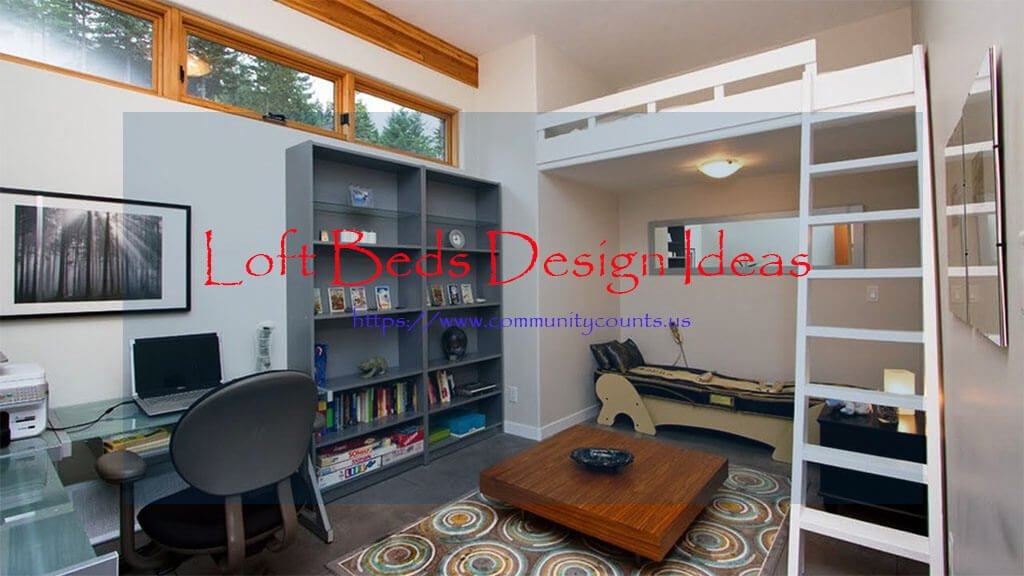 Loft Beds with Desk and Stairs