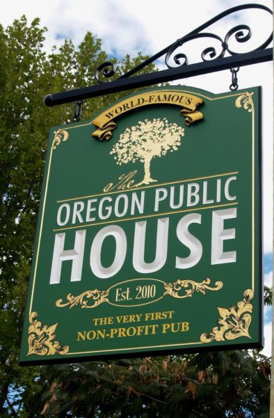 oregon public house sign t1 394x600 - Oregon Public House supporting the Cycling Center, AGAIN!