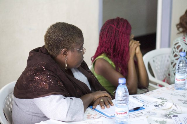 Participants listening to the working group presentation