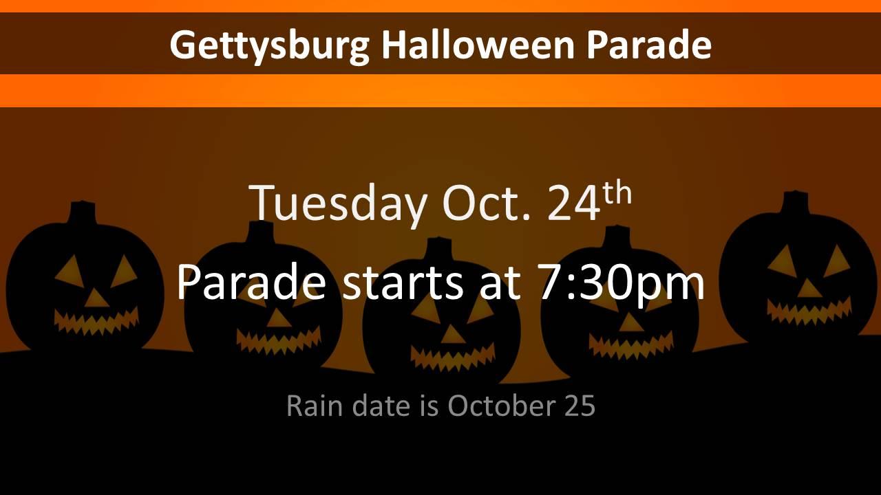 gettysburg halloween parade 2017