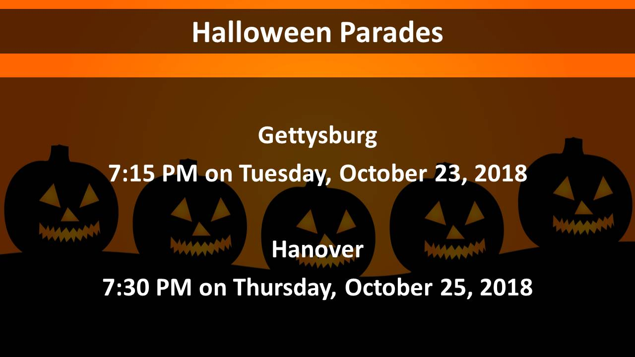 gettysburg halloween parade 2018