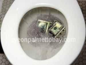 flushing taxpayer money down the toilet