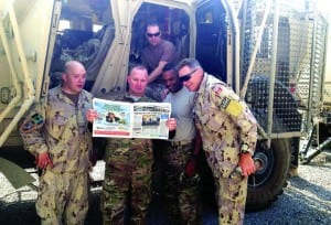 Palmetto Bay News read at Camp Phoenix, Afghanistan