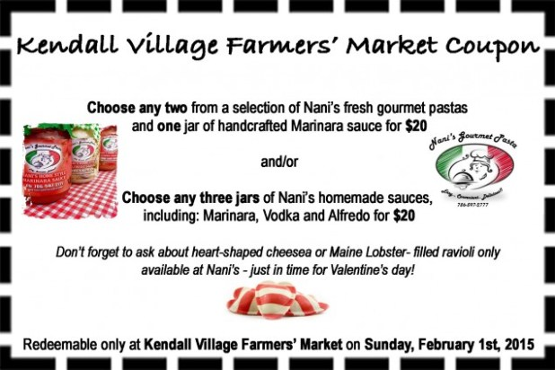 Kendall Farmers market coupon 02.01