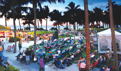 Concerts take place on the resort's scenic Watkins Lawn overlooking the Gulf. (Photo Credit: Pat Shapiro)