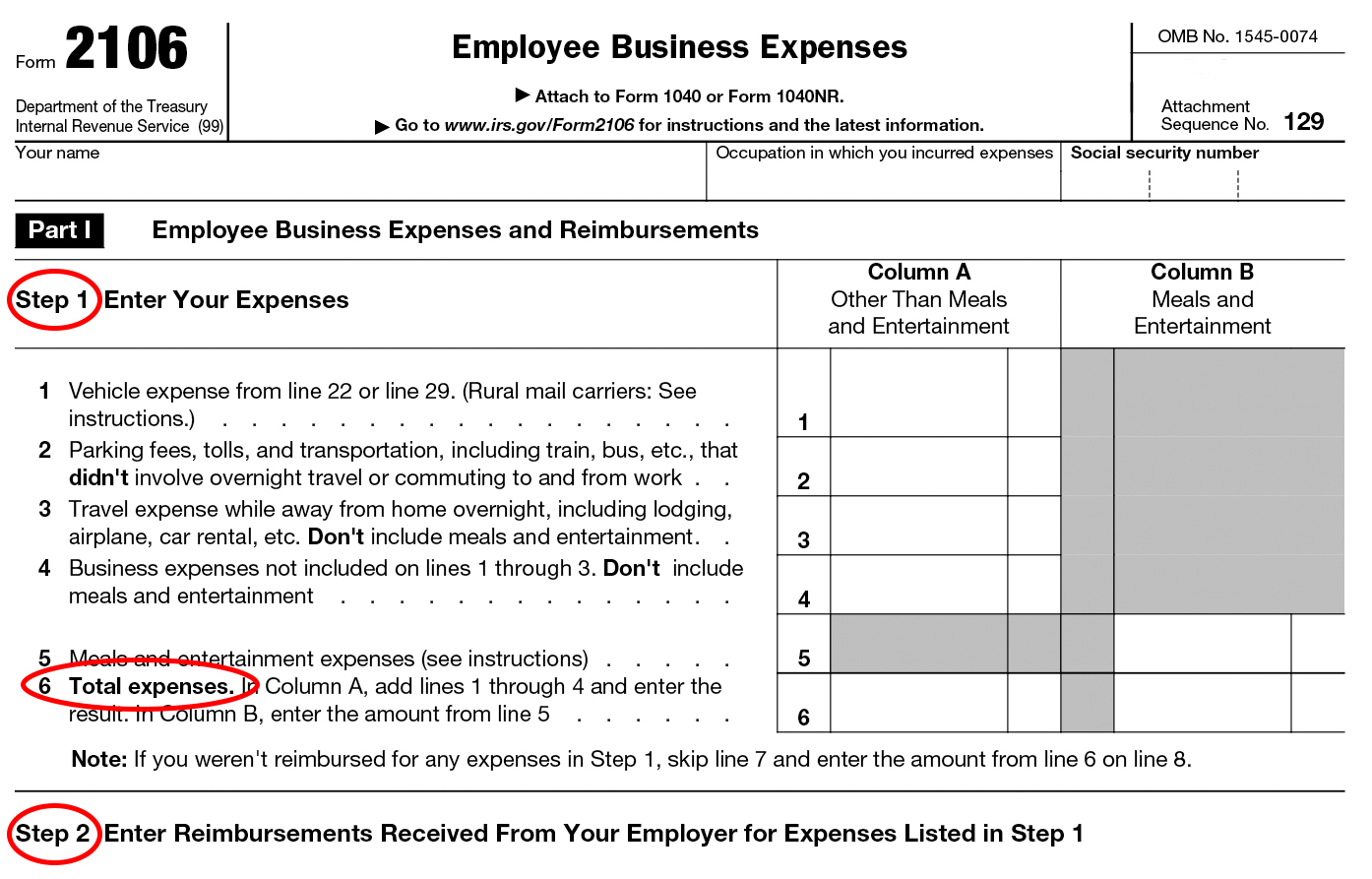 Travel And Entertainment Expenses Irs