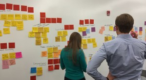 Innovation Team working on whiteboard