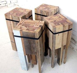Cubist bar stools