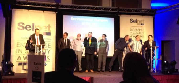 """The Woodhouse named """"Environmental Champion of the year"""" at Selnet Awards"""