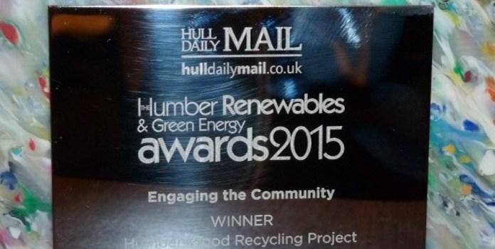 Humber Wood Recycling wins at Green Energy Awards 2015