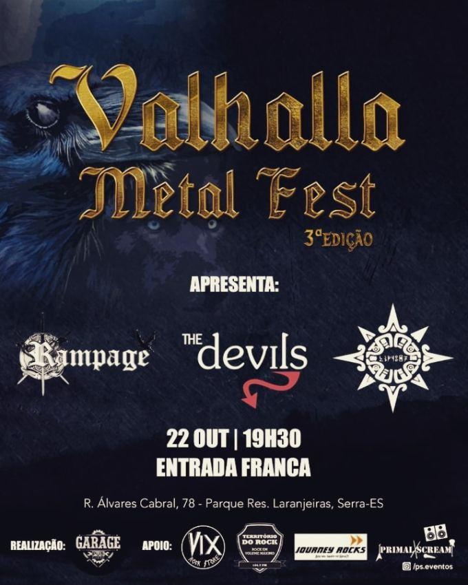 A banda Rampage está no Valhalla Metal Fest 3ª edição