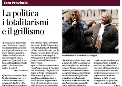 Lettere La Provincia di Como del 24/11/2013