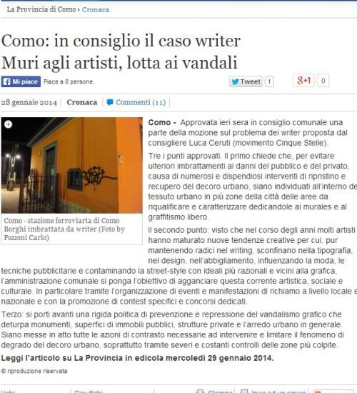 2014-01-28, la provincia ONLINE writers