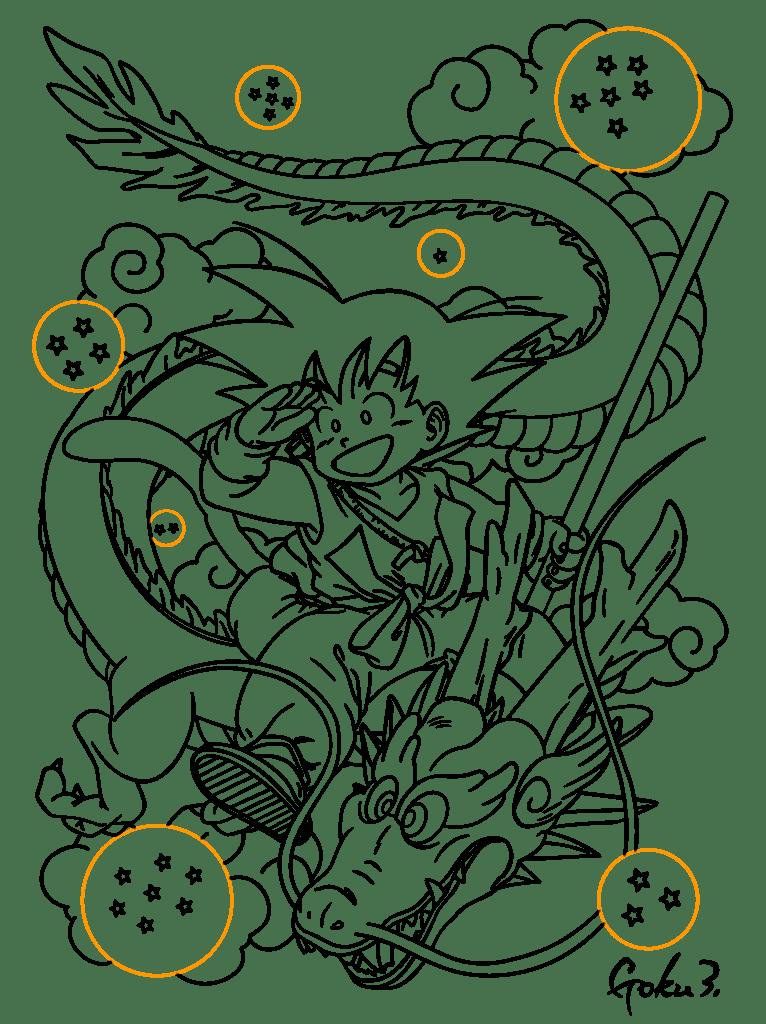 Colorir Goku De Dragon Ball Z Muito Fcil Colorir E Pintar
