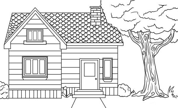 Casas para Colorir e Imprimir - Muito Fácil - Colorir e Pintar