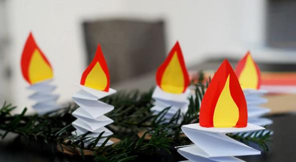 Resultado de imagem para fogueirinha de papel