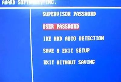 BIOS user password