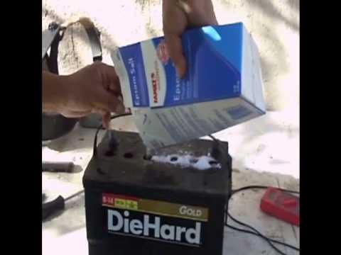 reparar la batería de un automóvil