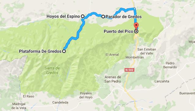 ruta hoyos del espino sierra de gredos y puerto del pico avila