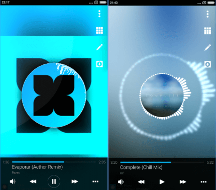 apk reproductor de musica avee music player