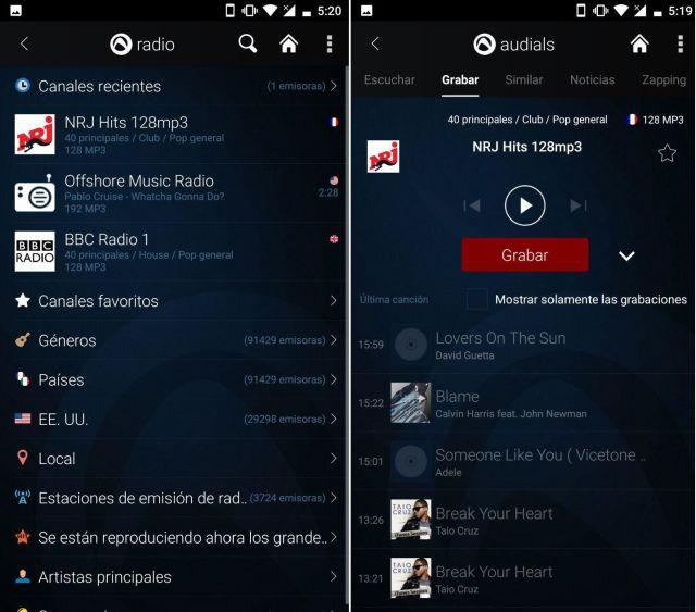 audials radio apk activar radio fm android sin internet