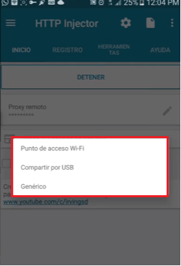 compartir internet de http injector vpn pc