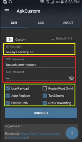 configurar apk custom vpn para tener internet gratis