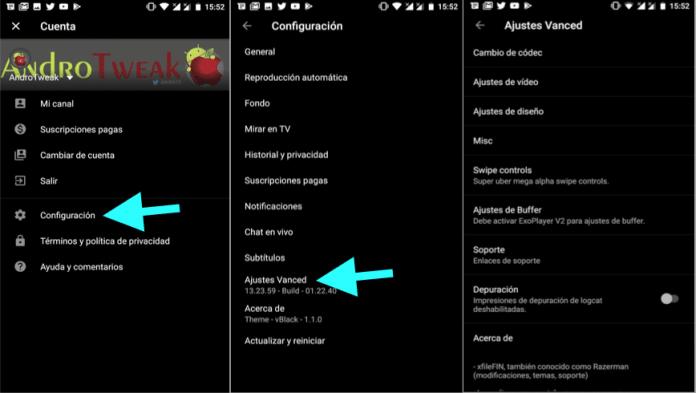 descargar instalar youtube black negro apk app gratis android