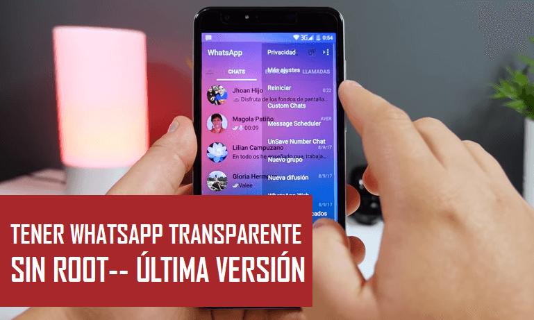descargar whatsapp transparente gb