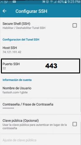 http injector No se puede conectar al Host