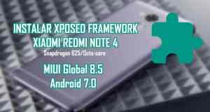 instalar xposed framework android 7 xiaomi redmi note 4