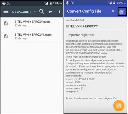 mejor metodos para combinar eproxy con openvpn android