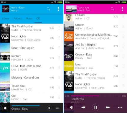 mejor reproductor de musica avee music player apk