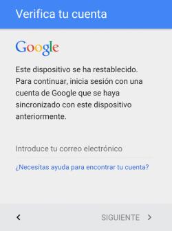 eliminar cuenta google en android zte lollipop 5