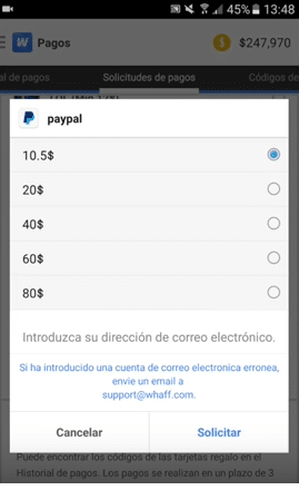 tener ganar dinero android gratis whaff rewards