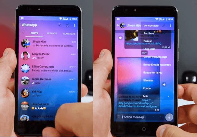 ultima version de whatsapp transparente apk android gratis