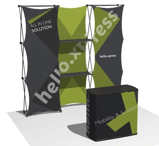 hello xpress - an all in one solution with display area, presentation counter and storage space
