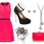 Looks con vestido coral