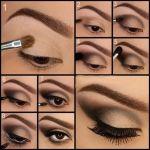 Maquillaje de noche en marrón