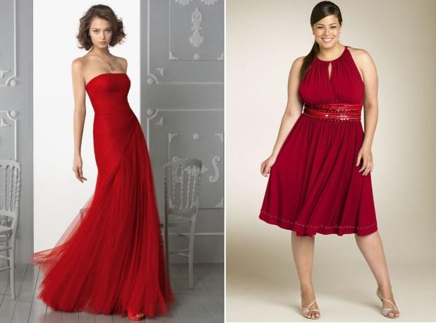 Vestidos en color rojo