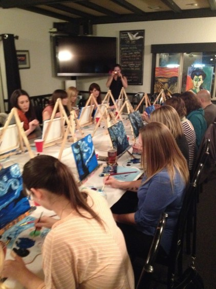Our first Art & Ale, at the White Whale Public House - so much fun!