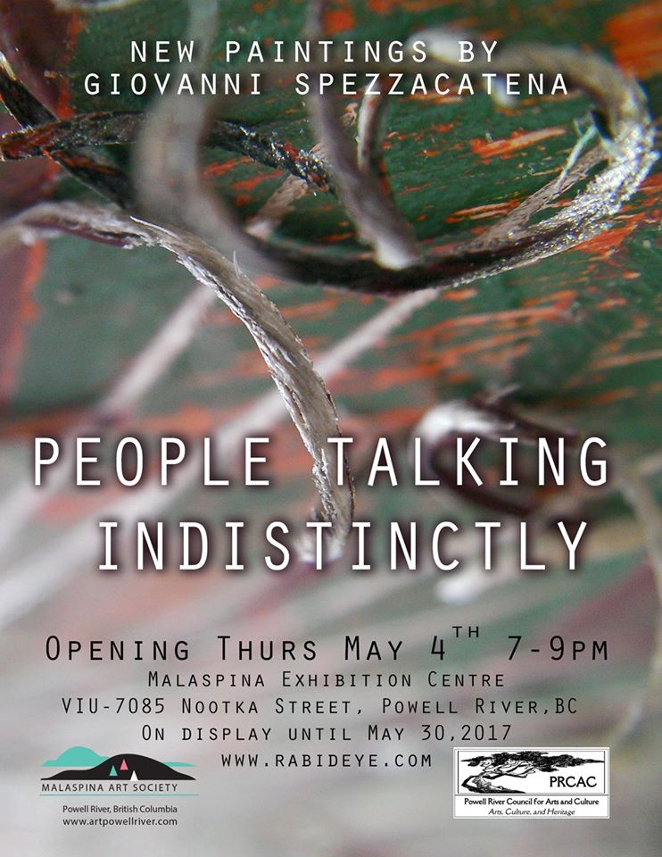 "Art Opening: ""People Talking Indistinctly: New work by Giovanni Spezzacatena"""