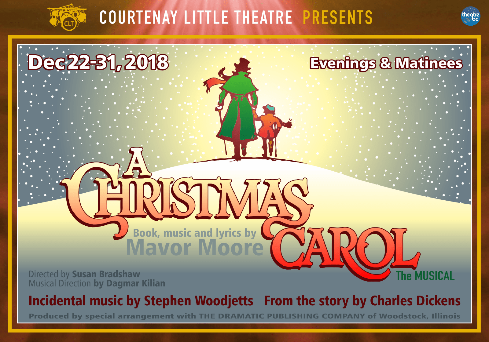 "Courtenay Little Theatre presents ""A Christmas Carol: the Musical"" Dec. 22nd - 31st"