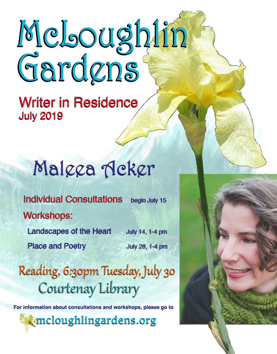 Poetry reading with Maleea Acker
