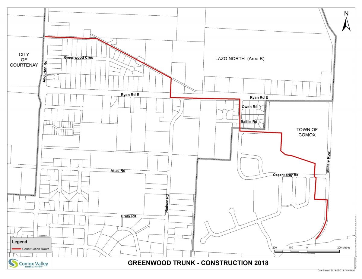 Greenwood Trunk Regional Sewer Line