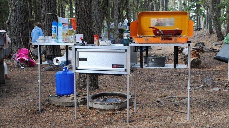 compact camping trailer camp-kitchen