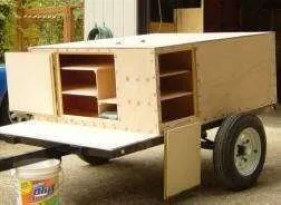 Compact Camping Trailer Storage